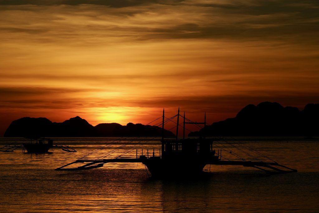 Sunset in Corong Corong